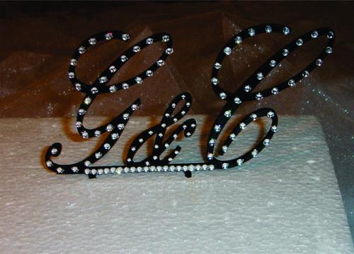 cake toppers wedding party initials monogram initials rhinestones