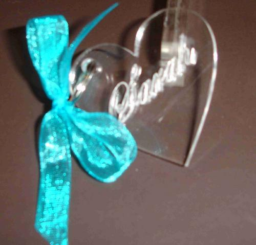 Weddings - Wedding favours - PERSONALISED KEY RING WITH GUEST NAME ...