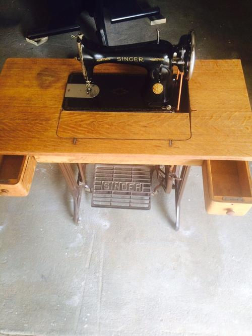 singer operated sewing machine