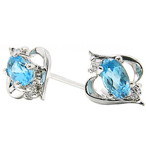 Natural Topaz Sterling Silver Earrings