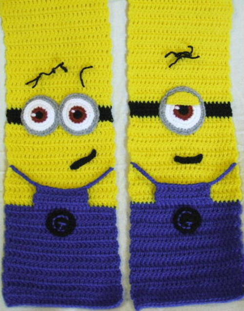 Free Crochet Patterns Minion Scarf : Other Clothing, Shoes & Accessories - **PLACE YOUR ORDER ...