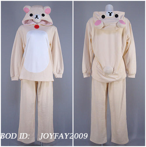 Bear costume pyjamas