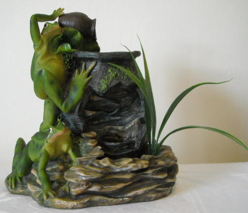 Indoor Fountains Miniature Water Feature Frog Waterfall