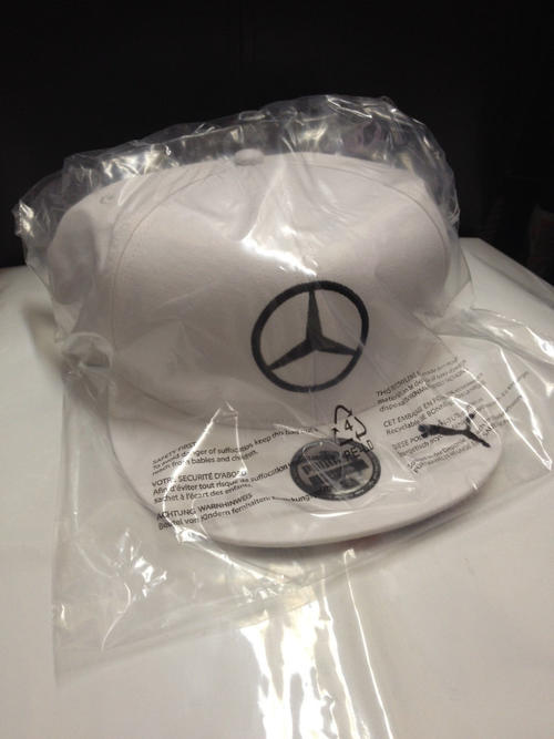 Flat Brim Cap Mercedes White Flat Brim Cap With Union
