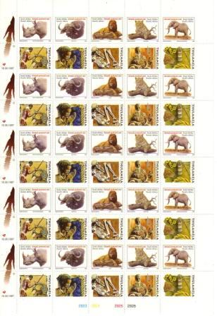 """(原创)南非""""五霸""""邮票6:猎豹王族的个性化""""五霸""""邮票 - 六一儿童 - 译海拾蚌"""