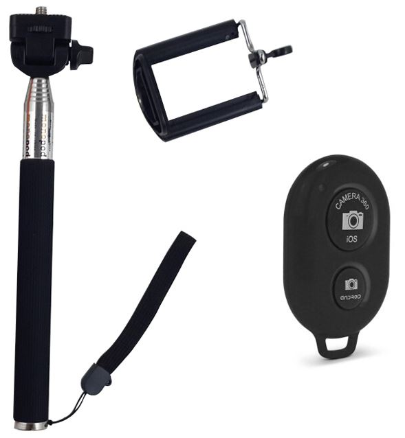 cradles mounts stands selfie stick with wireless remote was sold for on 10 dec at 09. Black Bedroom Furniture Sets. Home Design Ideas