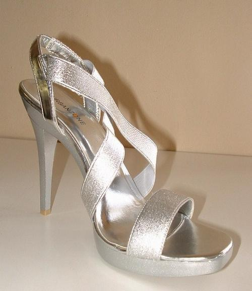 Shoes 8 41 New Ladies Silver Boxed Wedding Farewell