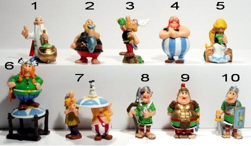 other action figures complete set of asterix and roman figurines kinderjoy was sold for r410. Black Bedroom Furniture Sets. Home Design Ideas