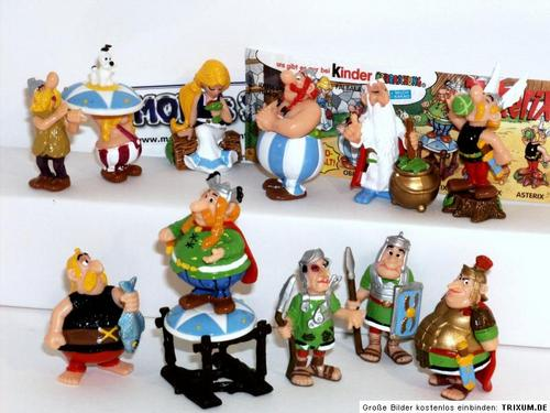 other collectable toys kinder surprise asterix romans complete set germany was sold for r141. Black Bedroom Furniture Sets. Home Design Ideas