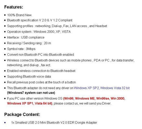 TiNY SMART USB BLUETOOTH LAPTOP PC COMPUTER ADAPTOR GADGET # R1 Auction Usave R125 #