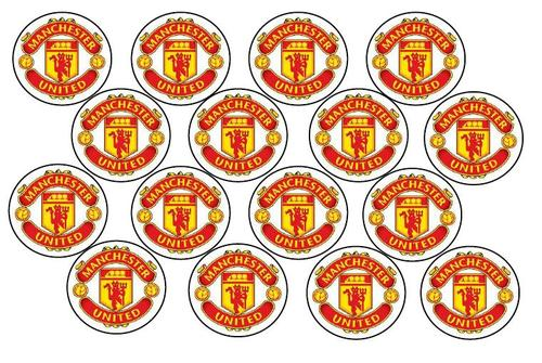 Manchester United Rice Paper Cake Toppers