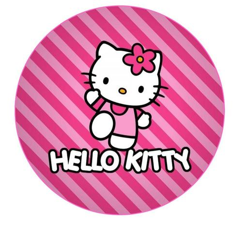 Cake Decorating - Hello Kitty Round Cake topper & Cupcake ...