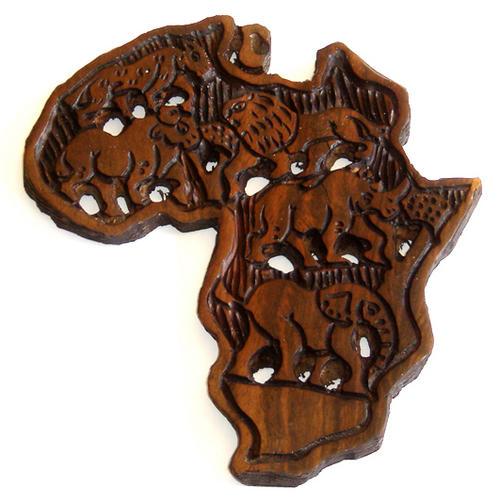 Sculptures carvings big five in africa hand