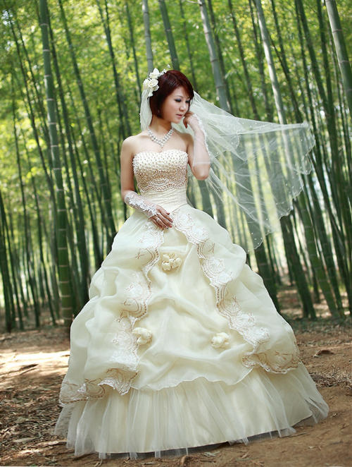 Plus Size Wedding Dresses Hong Kong : Wedding dresses sexy strapless brocade dress