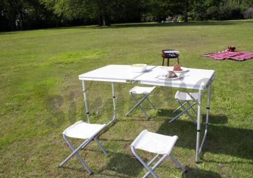 johannesburg  4 table  Portable Aluminum   Table runners Picnic Stools  with Tables Folding Table