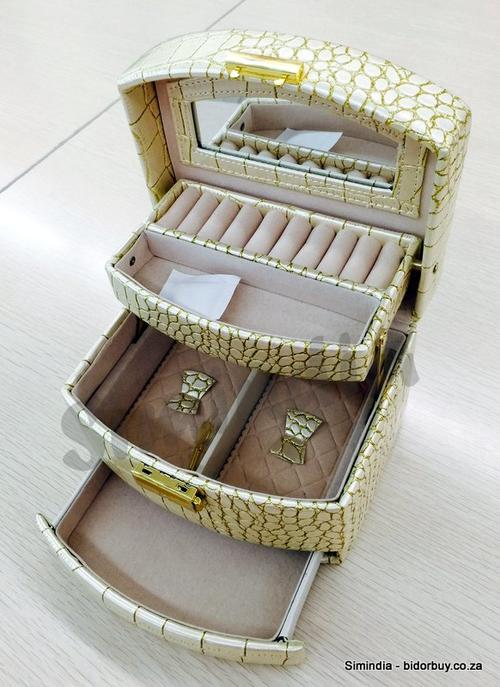 Jewellery BoxesPerfect Wedding Gift Cream Colour, Faux Croc Leather ...