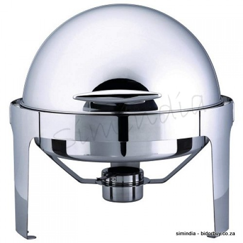 kitchen equipment supplies mirror finish stainless steel round roll top chafing dish set was. Black Bedroom Furniture Sets. Home Design Ideas