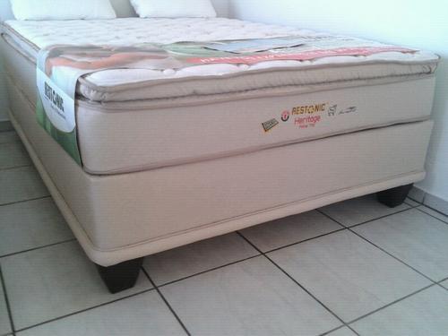 Beds Restonic Heritage pillow top Queen mattress and