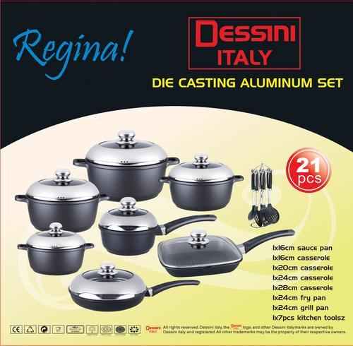 Cookware Sets R4220 Quot Dessini Quot 21 Piece Die Cast