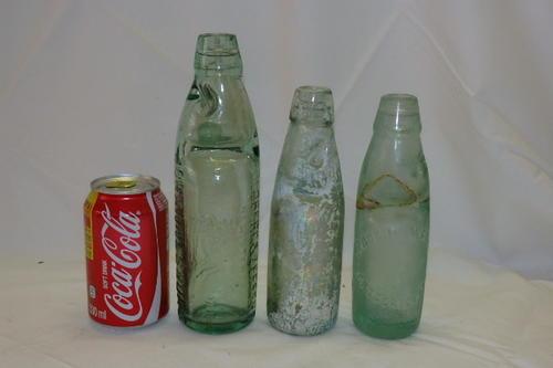 Bottles Three Amazing Antique Late 1800 S Glass Codd