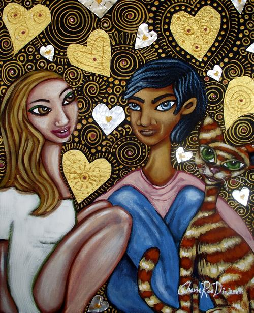 Sweet Like Chocolate Original Painting by south african artist, Cherie Roe Dirksen  Valentines Day Gifts