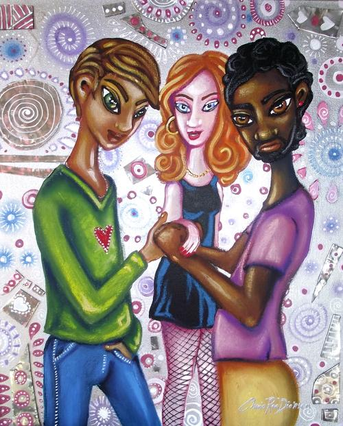 Gay Pride Painting Original Painting by south african artist, Cherie Roe Dirksen
