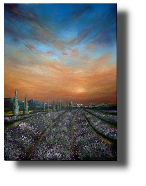 CHERIE DIRKSEN ORIGINAL...LAVENDER FIELD SUNSET