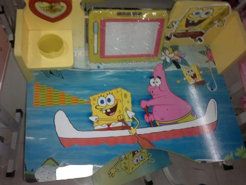 Tables Chairs Kids Real Office Desk Theme Sponge BOB