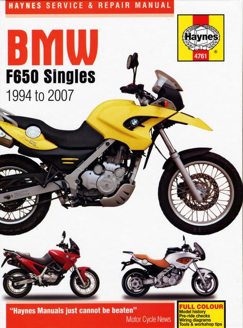 Haynes BMW F650 Singles Manual 4761 Haynes