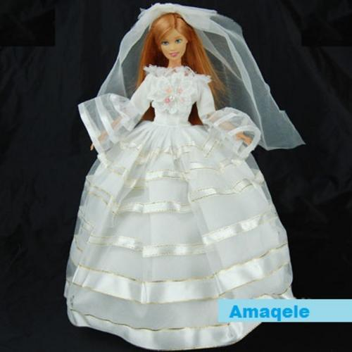 Handmade doll clothes - Nice homemade doll clothes, wedding