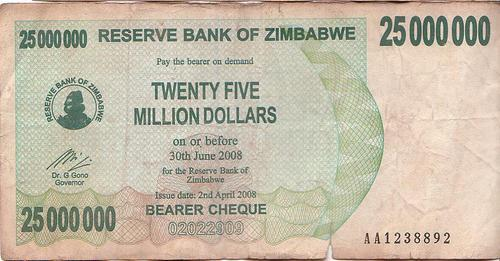 ... Million Zimbabwe Dollar Note Bearer Cheque With Expiry Date Download