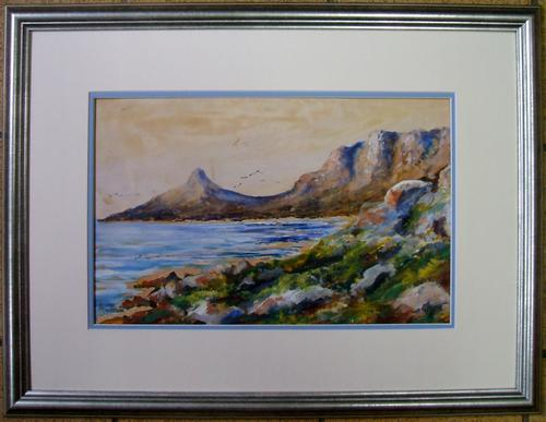 Watercolours Framed Watercolor By Well Known Collectable