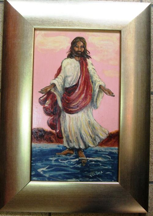 Oils r1 start oil painting jesus walking on the for How to start oil painting