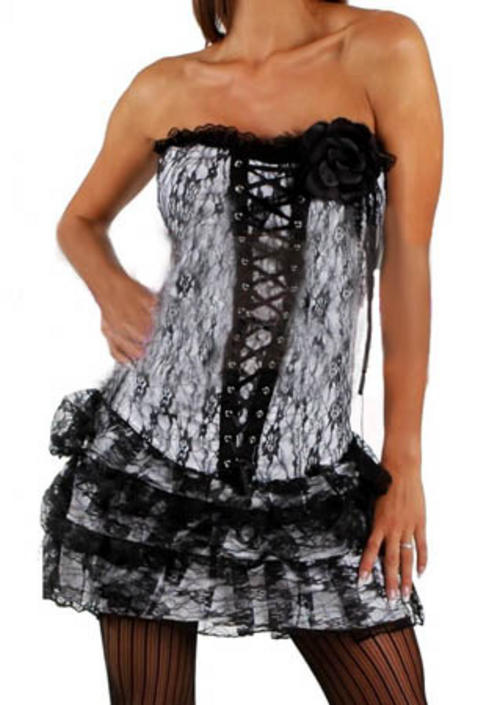 corset dress back. CORSET DRESS