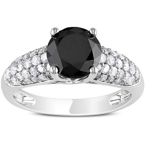 Engagement Rings 5 00Cts Round Cut Real & Natural Black Diamond Wedding
