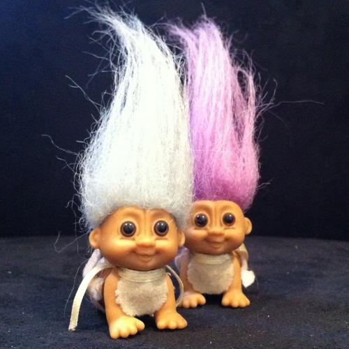 Two Vintage 90s 'Russ Troll Doll' Baby