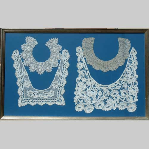 Image of framed lace collars