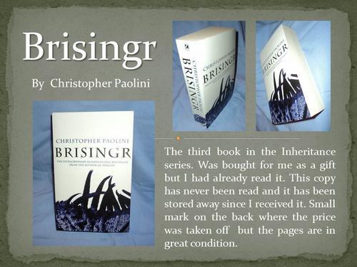 christopher paolini brisingr eragon paperback book