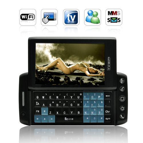 Vivistar 3.6 Inch Quad Band Dual SIM Slider Phone (WIFI, TV, QWERTY)