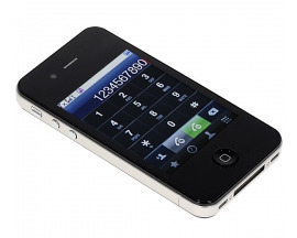 3.2 inch New 4S+ 16GB+ Wifi Analog TV Java Dual Cards Touch Screen Cell Phone (Black)