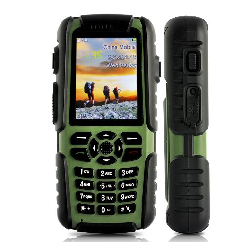 Vigis - Rugged Outdoors Waterproof + Shockproof Mobile Phone (Walkie Talkie + GPS + Compass)