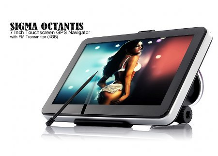 Sigma Octantis - 7 Inch Touchscreen GPS Navigator with FM Transmitter (4GB)