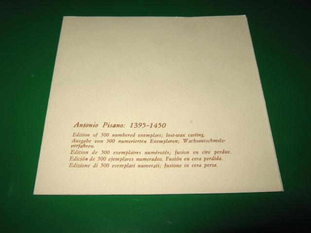 BRONZE MEDAL - ANTONIO PISANO (1395-1450)