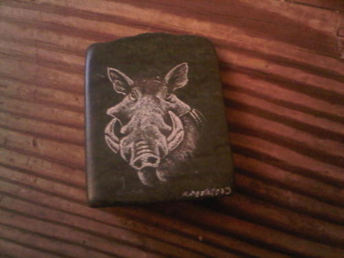 Other ornaments warthog soap stone carving for sale in
