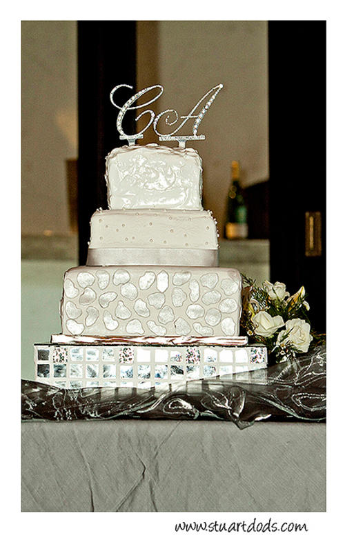 Wedding cake topper crystal diamante Initials bidorbuy ID 38242186