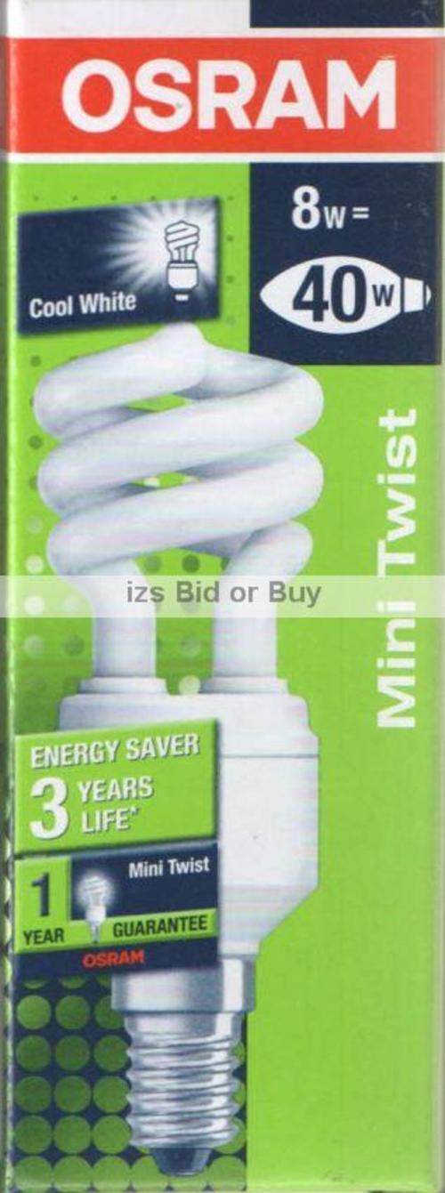 light bulbs osram duluxstar 8w mini twist e14 energy saver bulb was listed for on 6 may. Black Bedroom Furniture Sets. Home Design Ideas