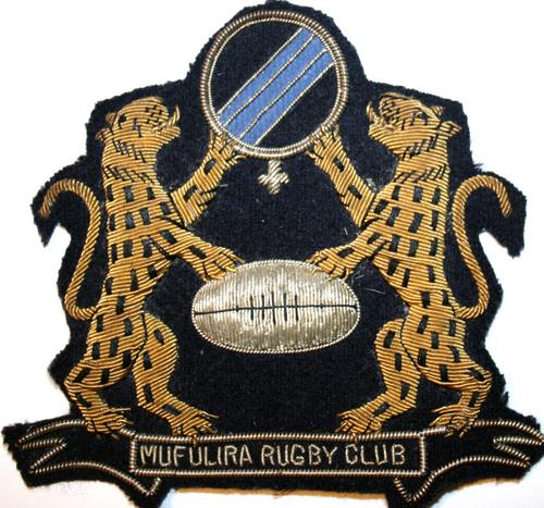 Rugby - MUFULIRA RUGBY CLUB (ZAMBIA) BLAZER BADGE IN GOOD CONDITION ...