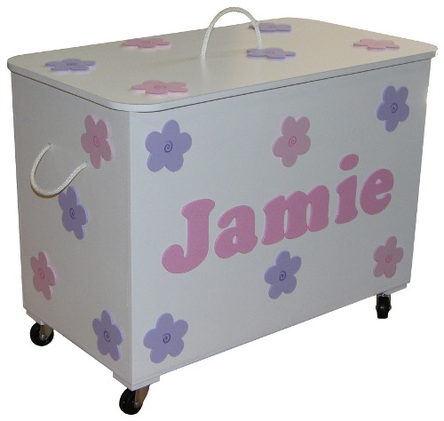 Carnival Toy Box Pink: Pink And Purple Flower Toy Box / FREE