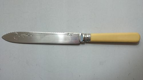 Cutlery Vintage Mlj Epns A1 Serrated Bread Cake Knife
