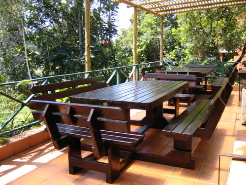 Patio sets picnic tables 10 seater pine picnic bench for 12 seater outdoor table and chairs
